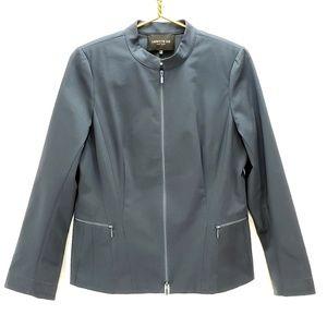 Lafayette 148 Zip Front Mandarin Collar Blazer